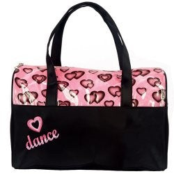 4941 Dasha Glittery Hearts Dance Duffle
