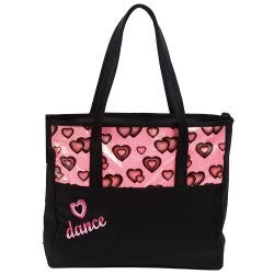 4942 Dasha Glittery Hearts Dance Tote
