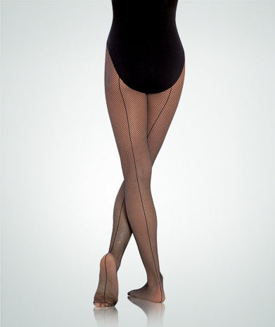 C62 Body Wrappers Girl's Totalstretch Seamed Fishnet Tights