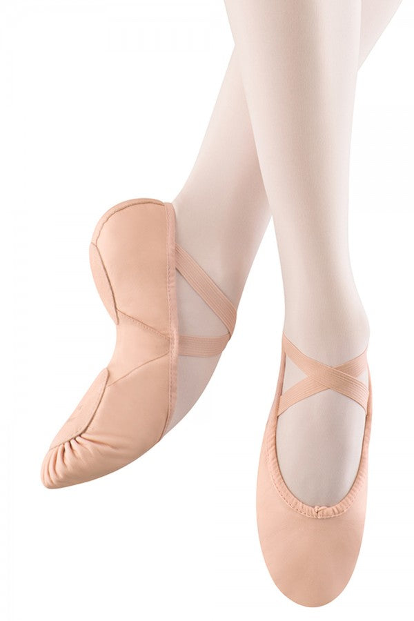 S0203G Bloch Children Split Sole Leather-Canvas Ballet Slipper