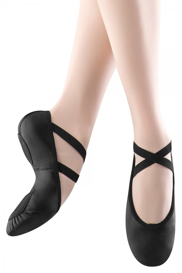 S0208 Bloch Split Sole Leather Ballet Slipper - Black