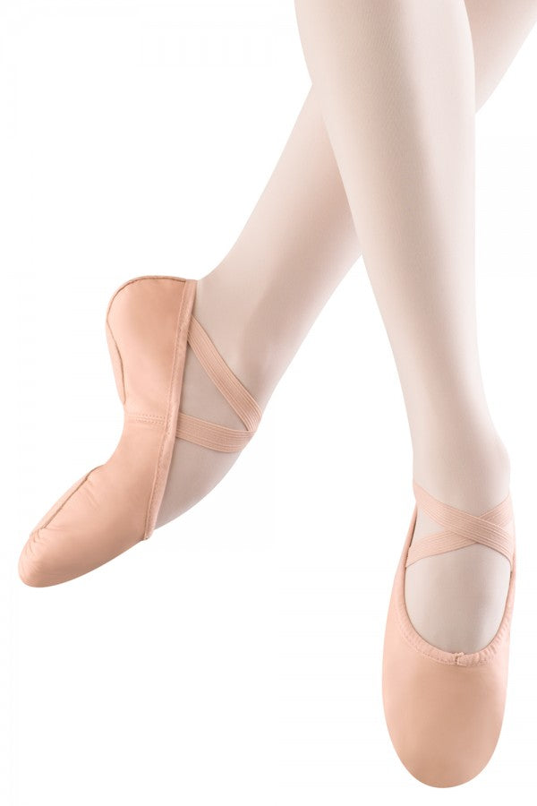 S0208 Bloch Split Sole Leather Ballet Slipper - Pink