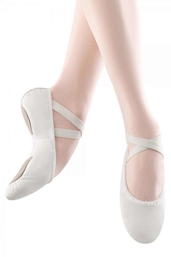 S0208 Bloch Split Sole Leather Ballet Slipper - White