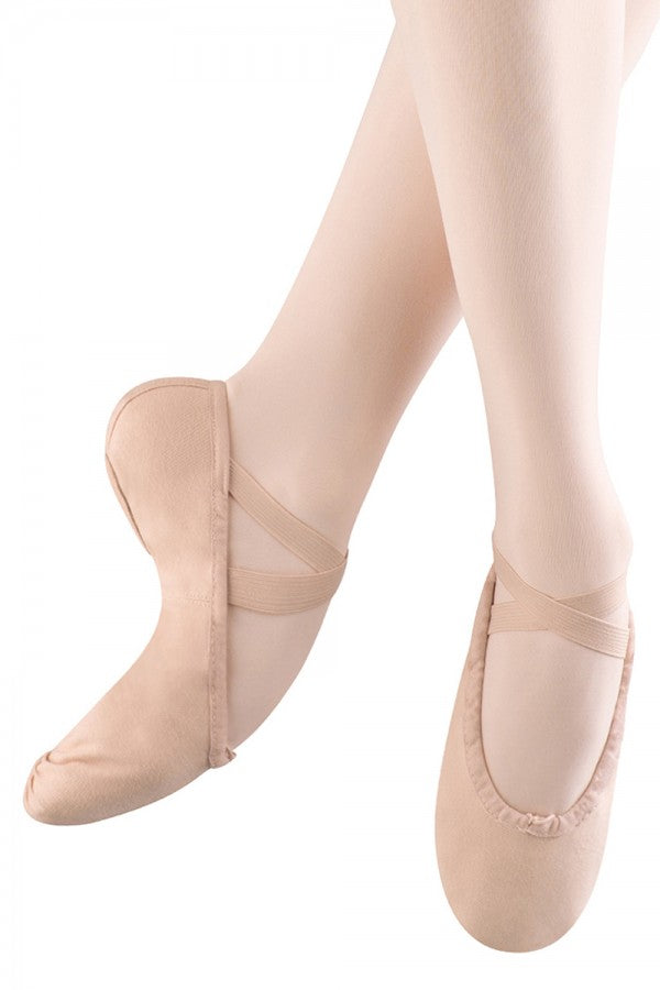 S0277G Bloch Girl's Split Sole Canvas Ballet Slipper
