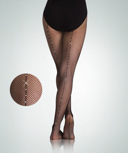 C64 Body Wrappers Girl's Totalstretch Backseam Fishnet Tights