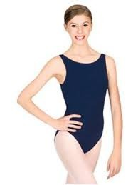 CC201 Capezio Adult Cotton High Neck Tank Leotard