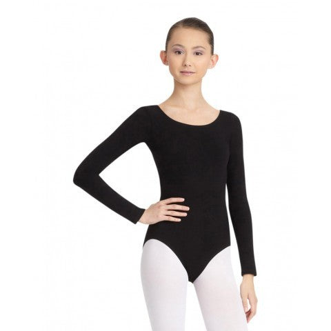 CC450 Capezio Adult Cotton Long Sleeve Scoop Neck Leotard