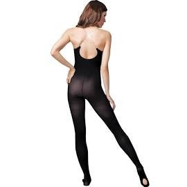 Capezio Women's Convertible Bodytight with Clear Straps