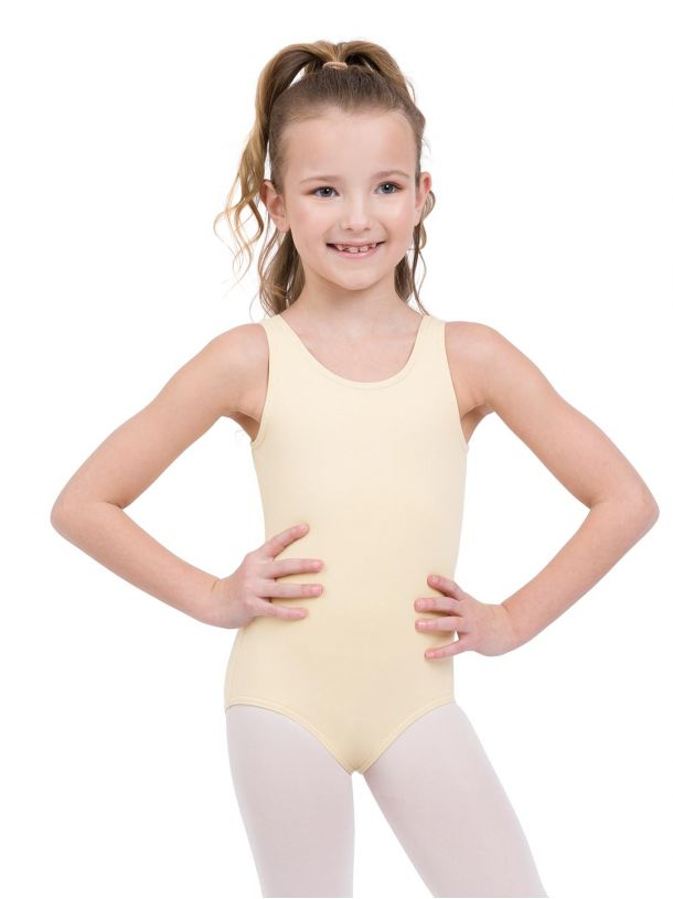CC201C Capezio Children's Cotton High Neck Tank Leotard