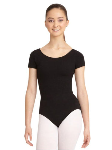 CC400C Capezio Children's Cotton Short Sleeve Leotard