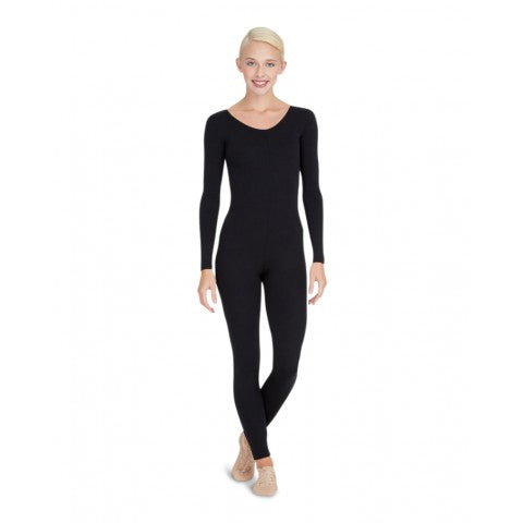 TB114 Capezio Adult Nylon Long Sleeve Unitard