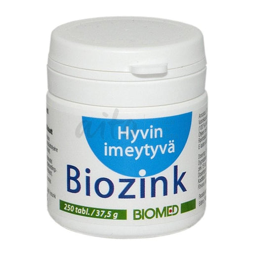 Biozink 250 Tabl - Biomed Misc