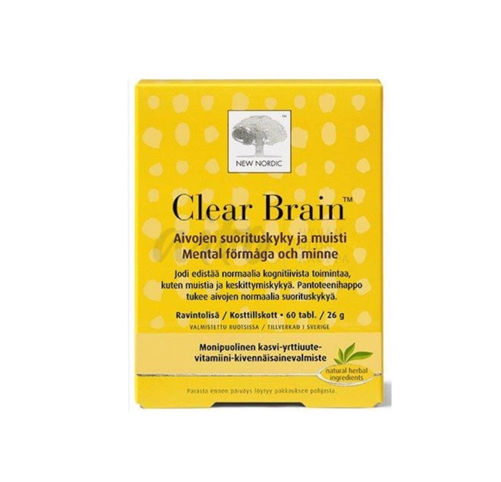 Clear Brain 60 Tbl - New Nordic Misc