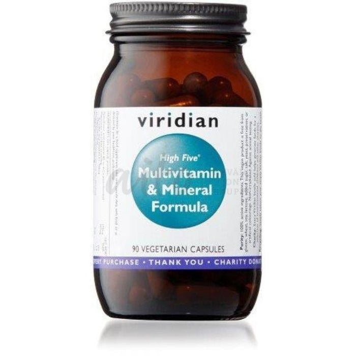 Viridian High Five Monivitamiini 90 Kaps (High Multivitamin & Mineral Formula) Vir