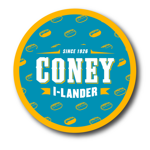 Coney Circle Sticker