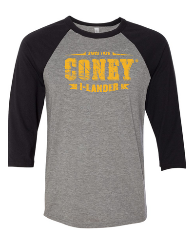 Coney Stamp Logo Baseball Tee