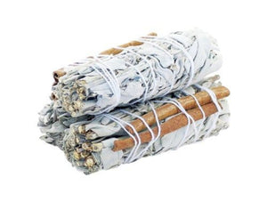 Smudge Stick - White Sage & Cinnamon 10cm (3pk)