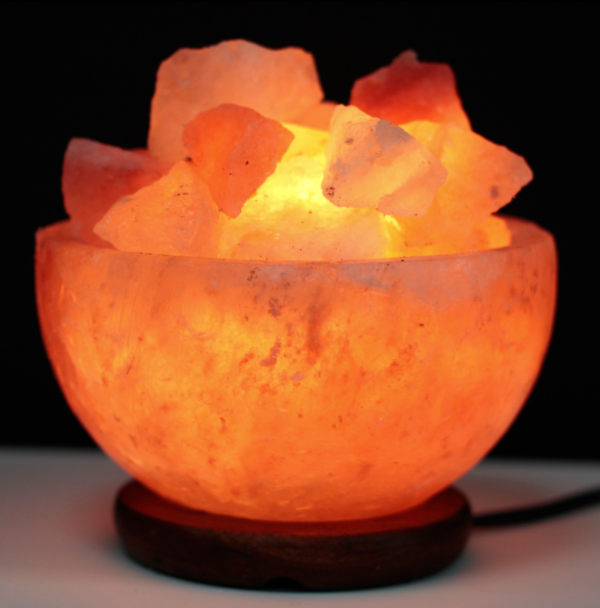 Salt Fire Bowl and Chunks /15cm x 9cm