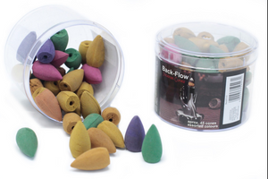 Tub of Assorted Back Flow Incense Cones (aprox 45)