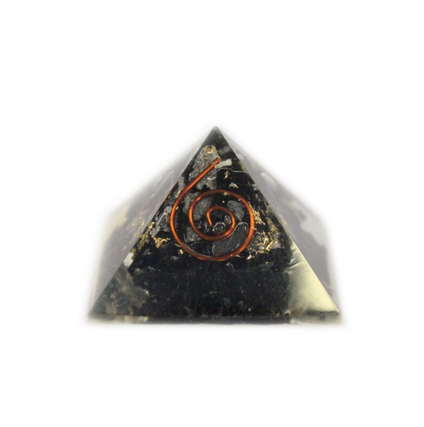 Orgonite Pyramid 25mm Gemchips and Copper (Small)