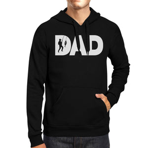 Dad Fish Black Hoodie Gift for Dad