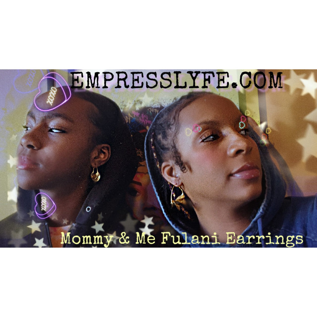 Mommy & Me Fulani Earring Set (M&L includes 2 pair)