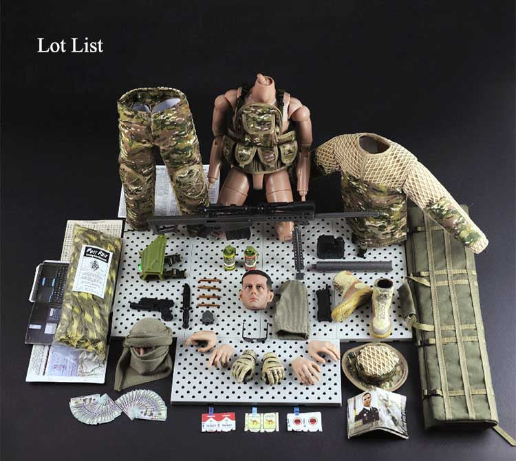 one sixth sniper action figure lot list