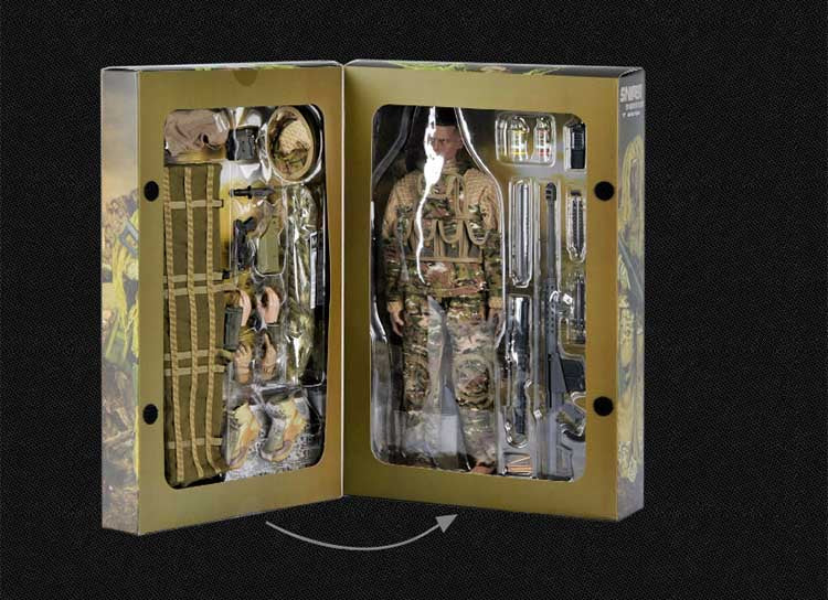 1:6 Sniper action figure package