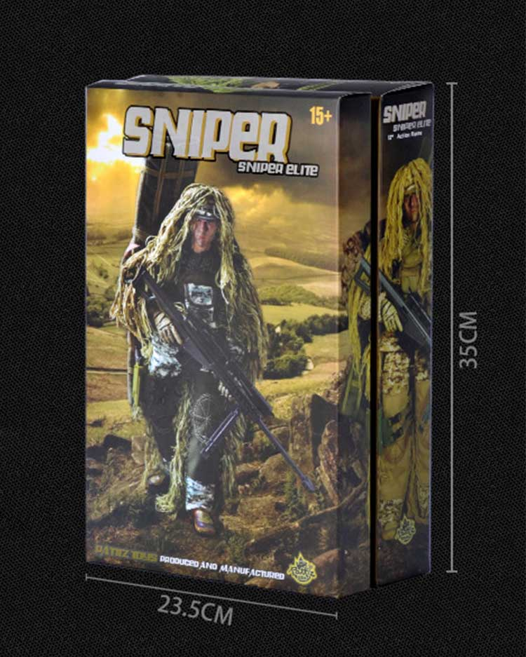 Sniper action figure package