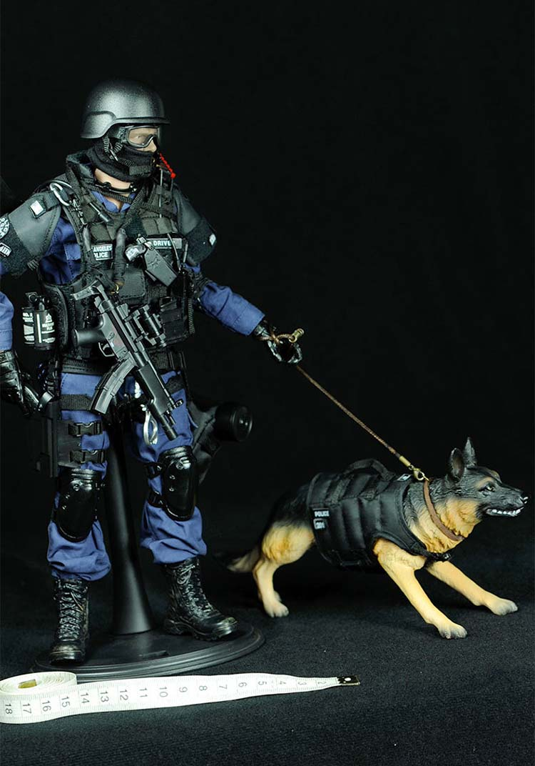 assaulter figure with dog