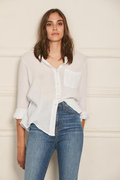 Boyfriend Shirt White Gauze
