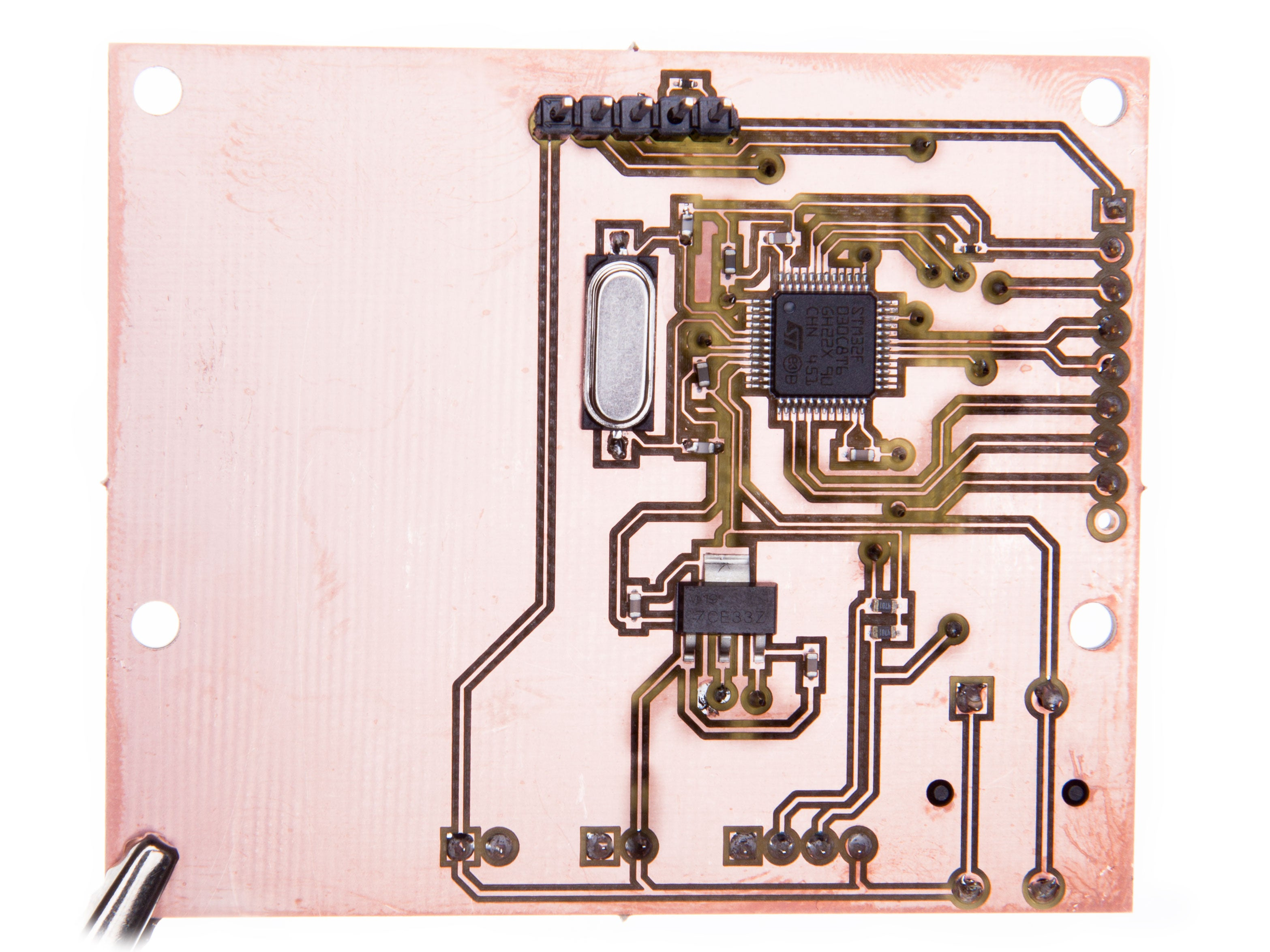 LIDAR board with soldered TTH components