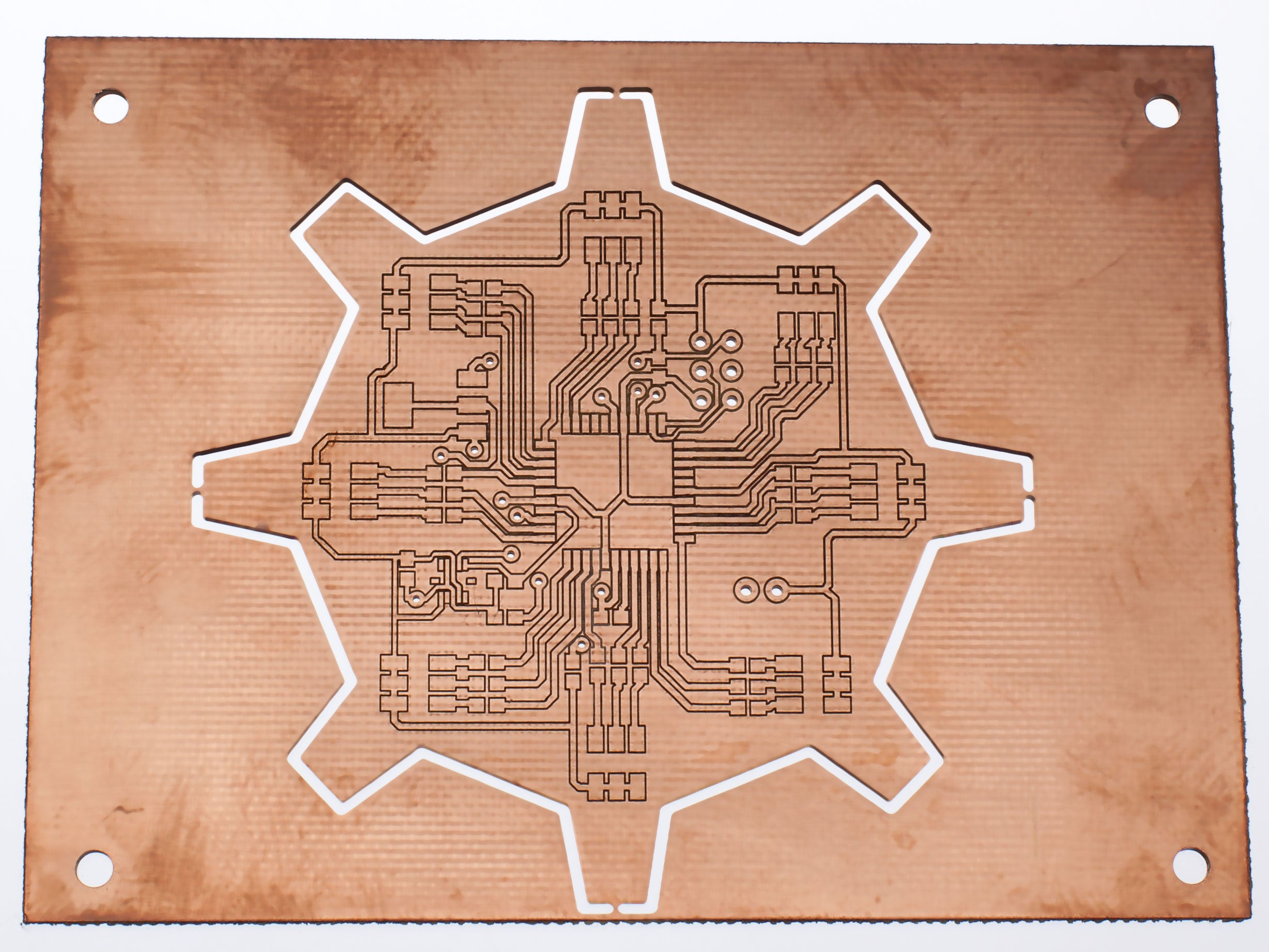 PCB for ATMega 16, RGB LEDs and accelerometer board