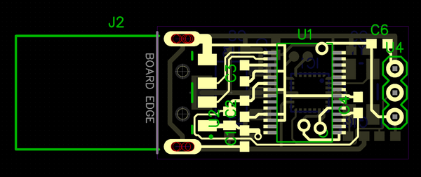 USB thermometer board layout