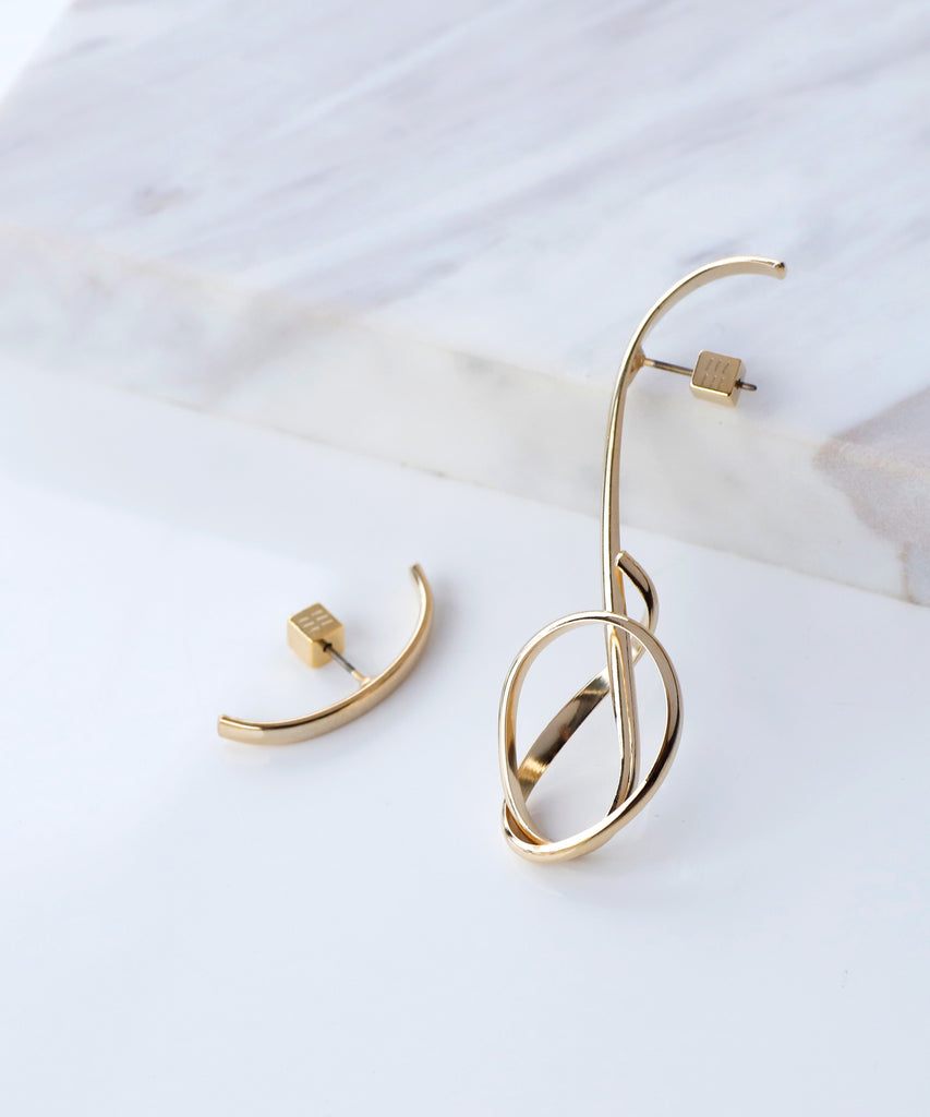 Unique Metal Earrings[A][Ownideal]
