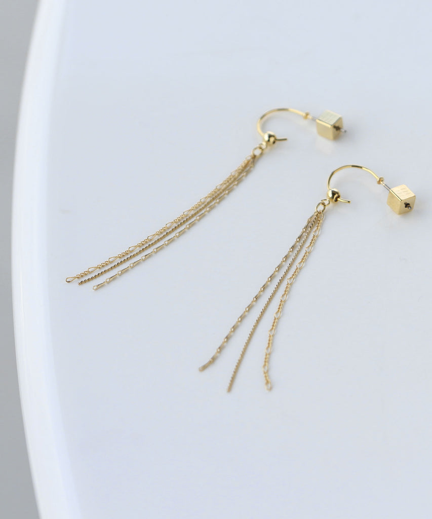 [Online Shop Limited] 2way Long Earrings[Sheerchic]