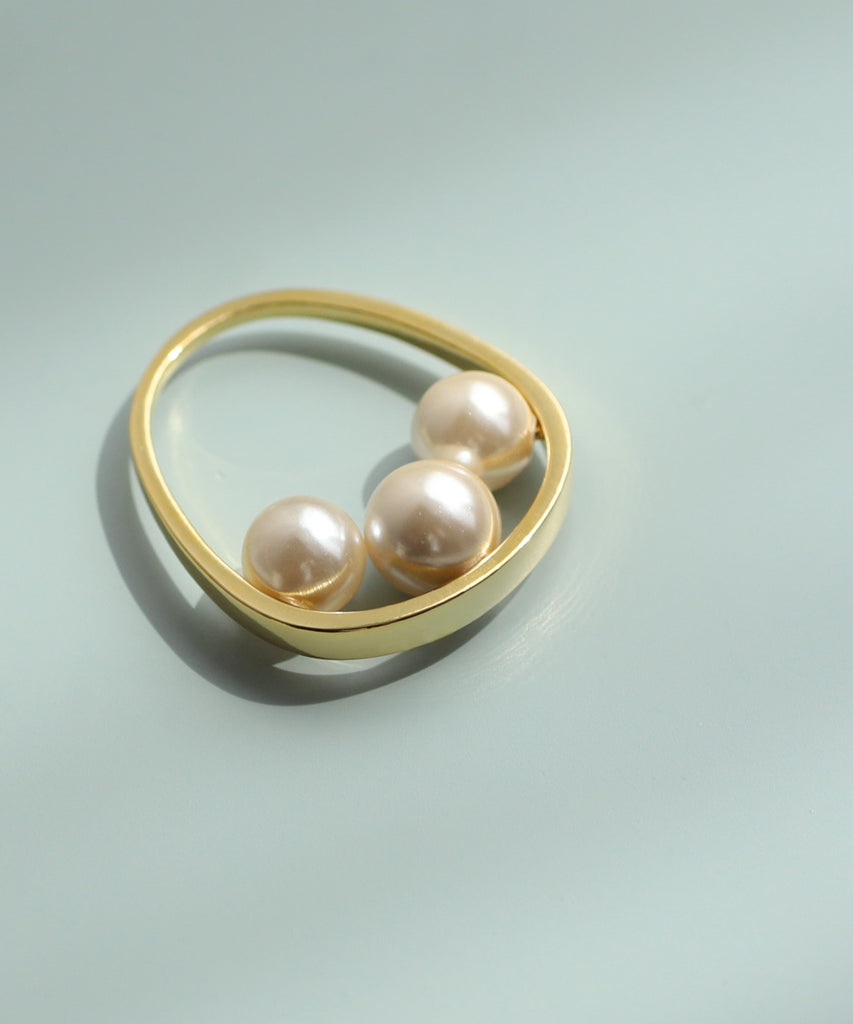 Shell Pearl Pinkie Ring[Ownideal]