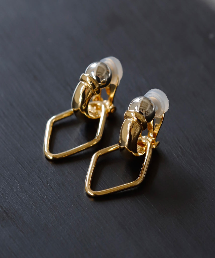 Metal 2WAY Clip On Earrings[Ownideal]