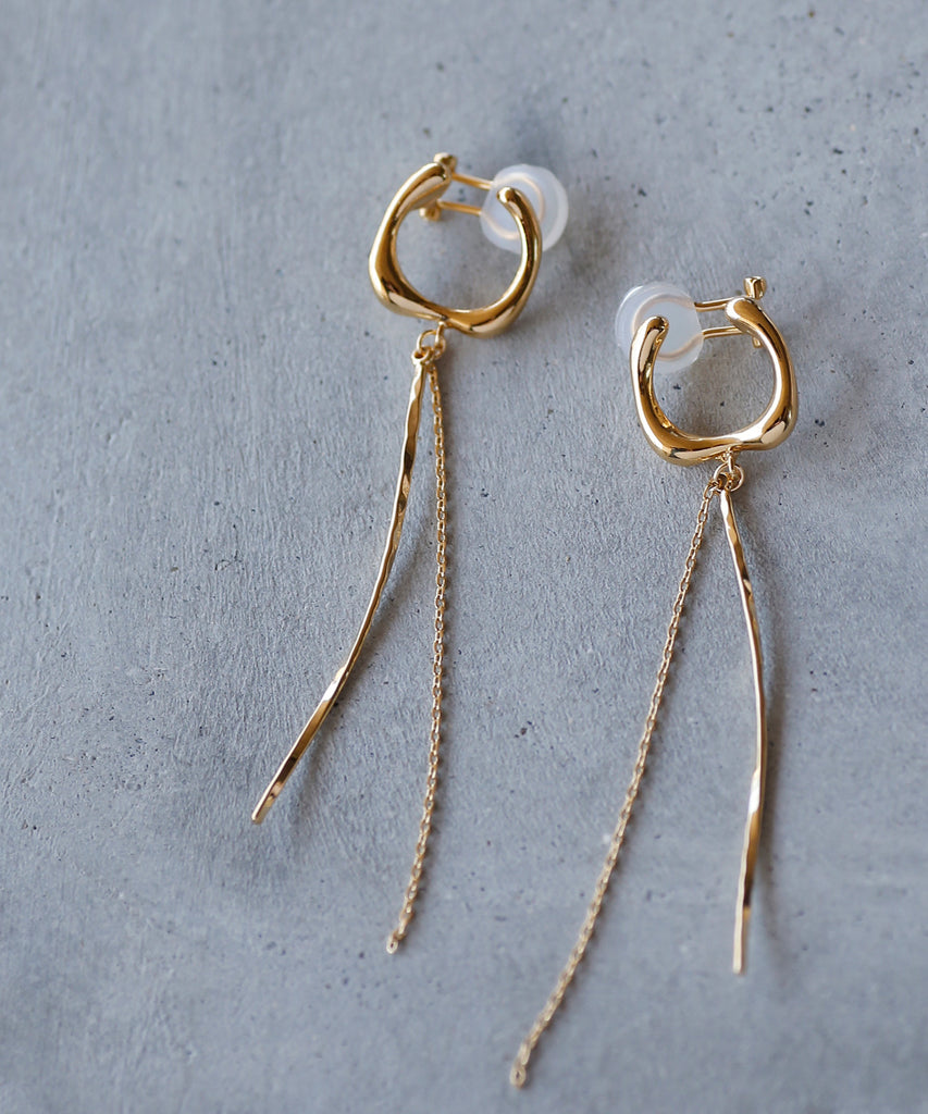 Metal Twisted Clip On Earrings[B][Sheerchic]