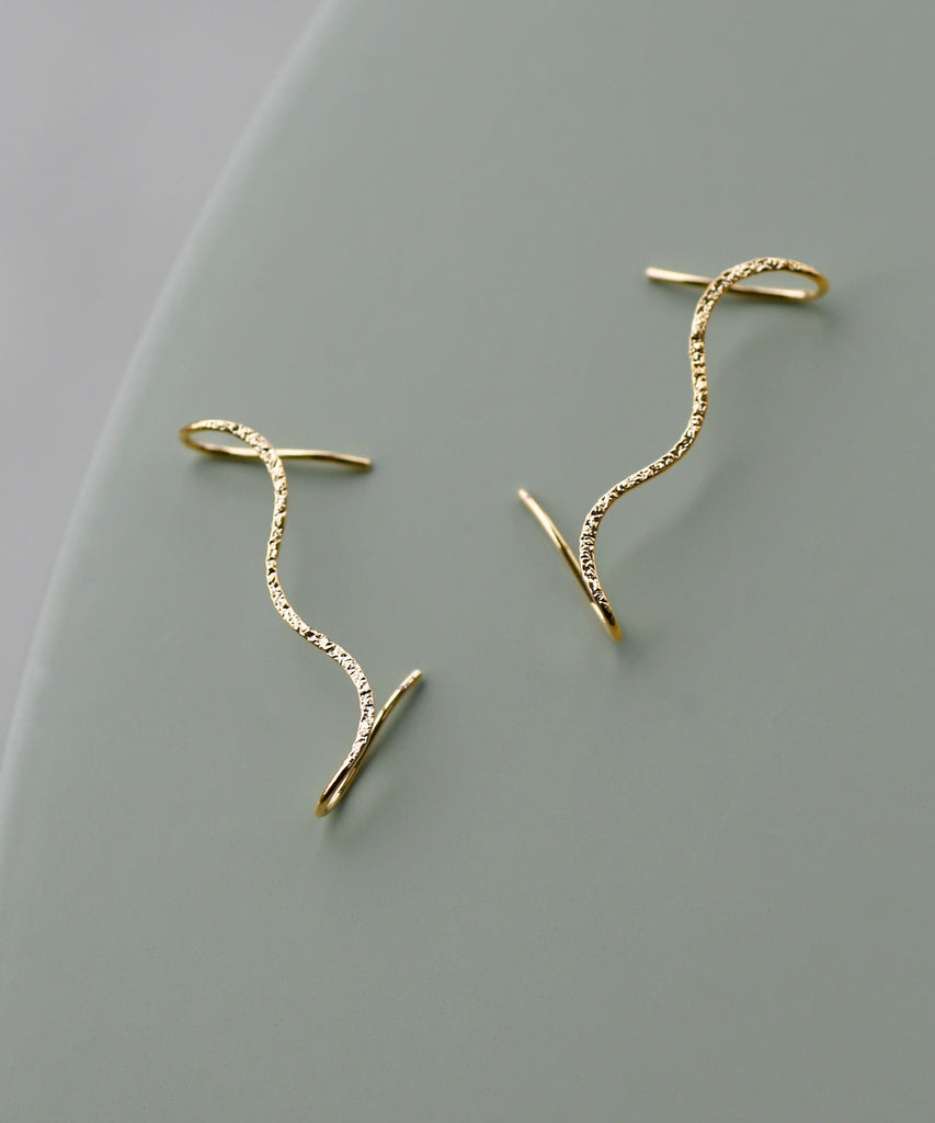 Wave Cuff Earrings[Sheerchic]