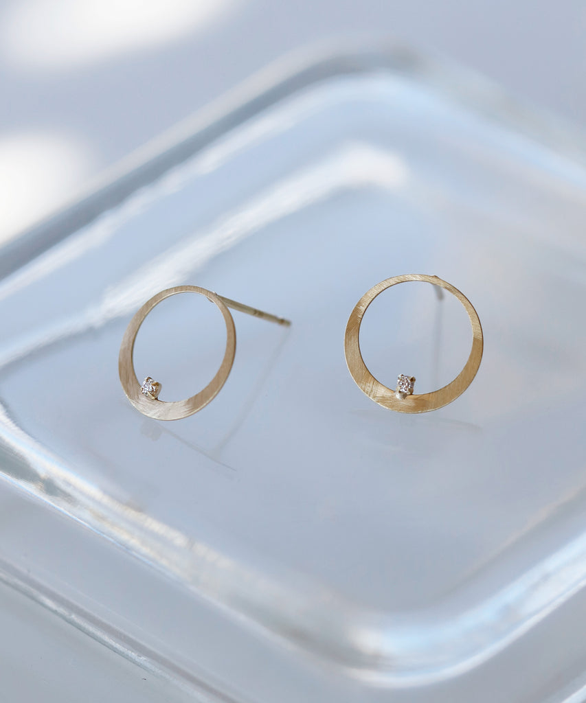 Circle Bijou Earrings[K10][Basic]