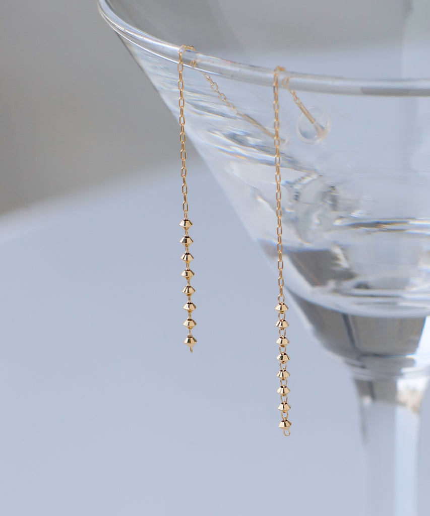 Sphere Long Earrings[K10][Basic]