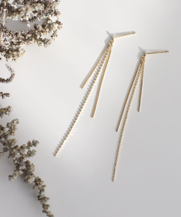 Chain Fringe Earrings[Basic][K10]