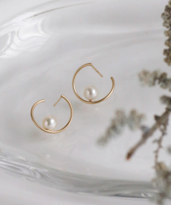 Freshwater Pearl Earrings[Basic][K10]