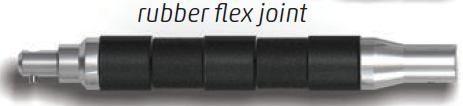 Sensor Networks Retrieval Tool - Rubber Flex Joint with Push Pole