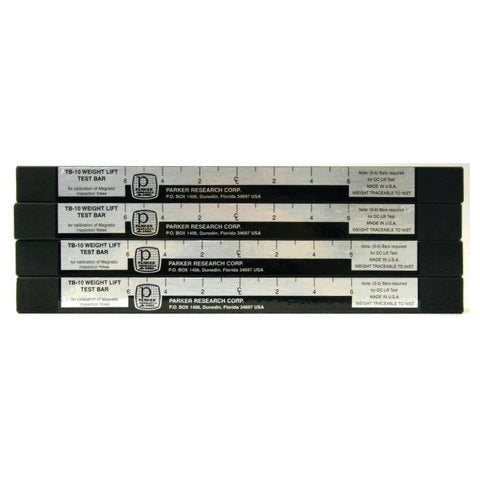 Parker TB-10S-4 Magnetic Weight Lift Test Bar (set of 4)