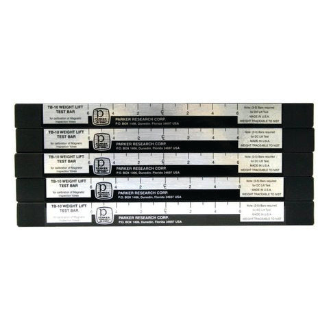 Parker TB-10S-5 Magnetic Weight Lift Test Bar (set of 5)