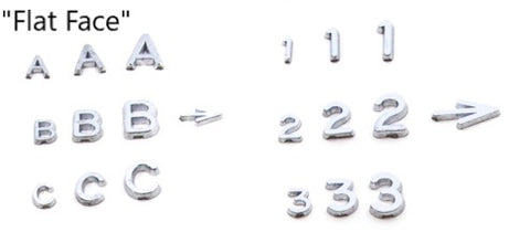 Lead Numbers and Letters (pack of 100)