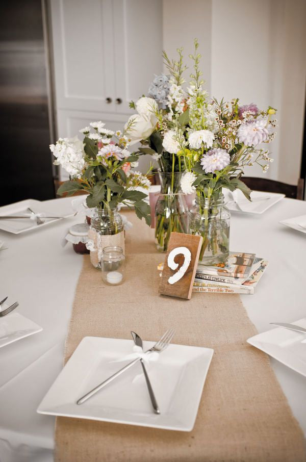 Table Runner On A Round Table.90 X 12 Inch Burlap Table Runners Fit 5ft Round Tables