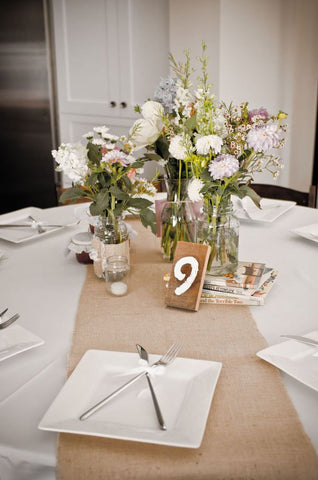 "90"" x 12"" Inch Burlap Table Runners (Fit 5ft Round Tables)"